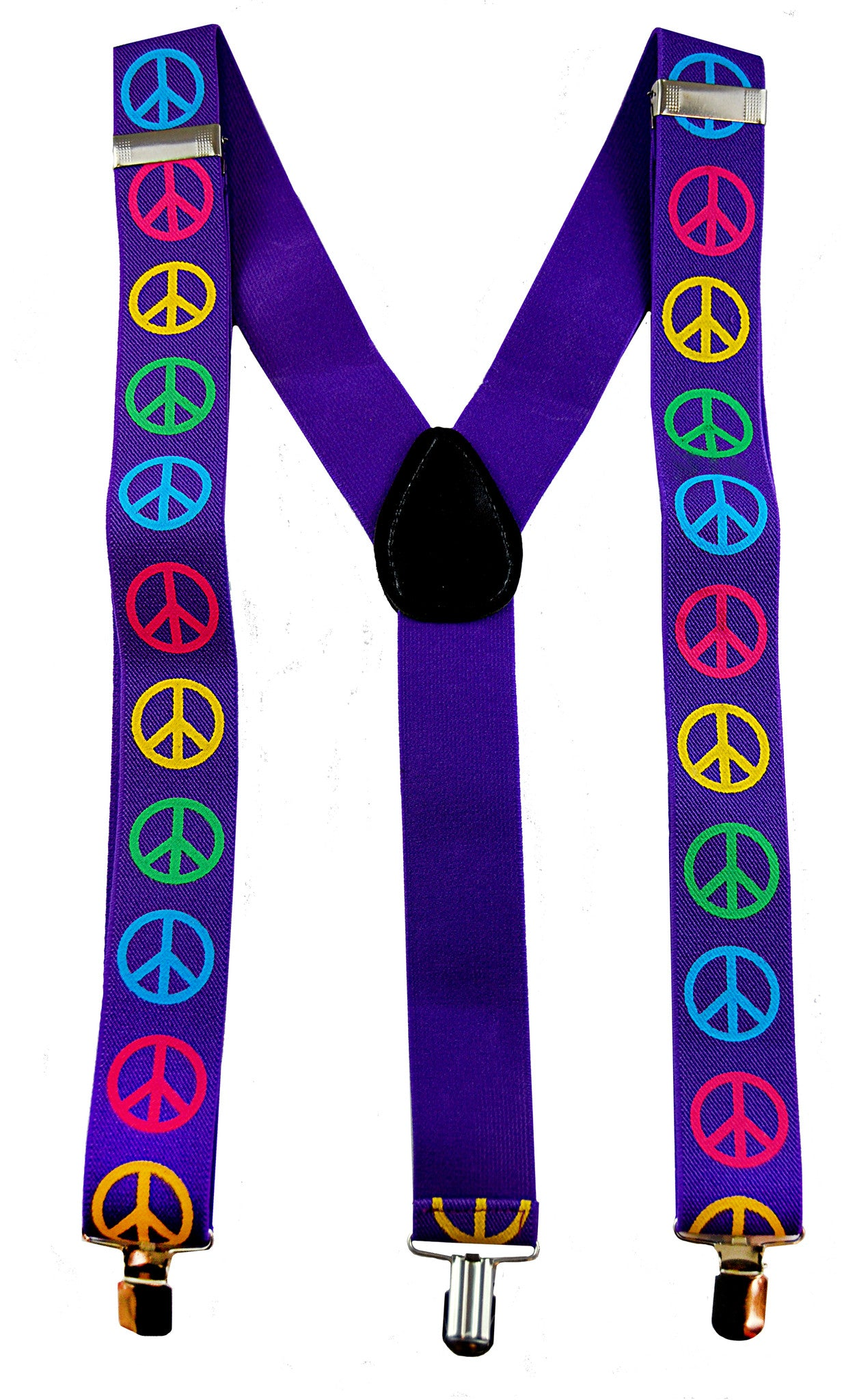 Stretch Braces/Suspenders - Peace Signs