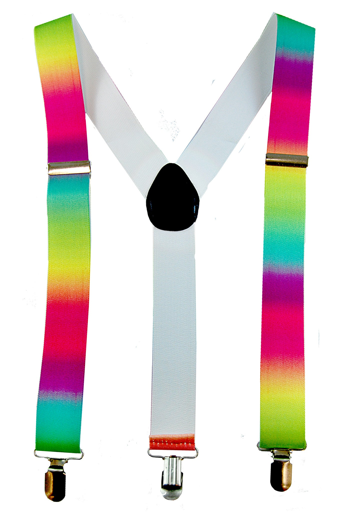 Stretch Braces/Suspenders - Neon Rainbow