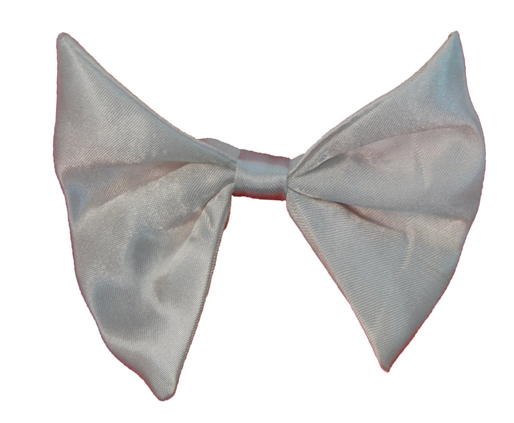 Satin Bow Tie - White