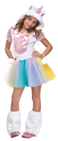 RAINBOW UNICORN COSTUME, CHILD - SIZE M