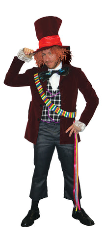 SUPERIOR MAD HATTER COSTUME, ADULT - SIZE XL