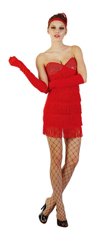 Sequin Red Flapper Girl - Adult - Large