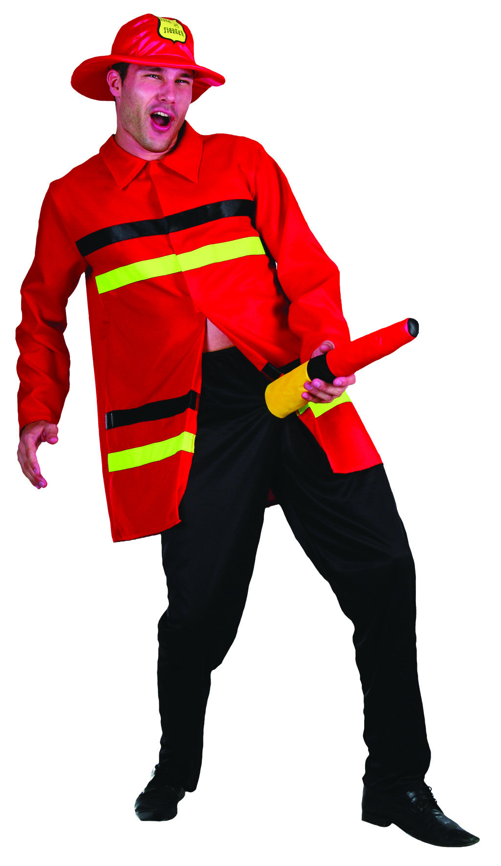 Funny Firefighter - Adult - Medium