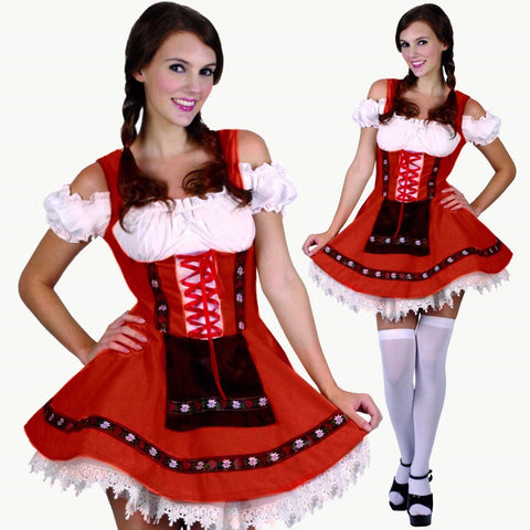 Red Oktoberfest Costume, Womens - Size M/L