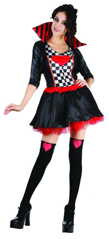 Queen of Hearts Costume, Adult - Large