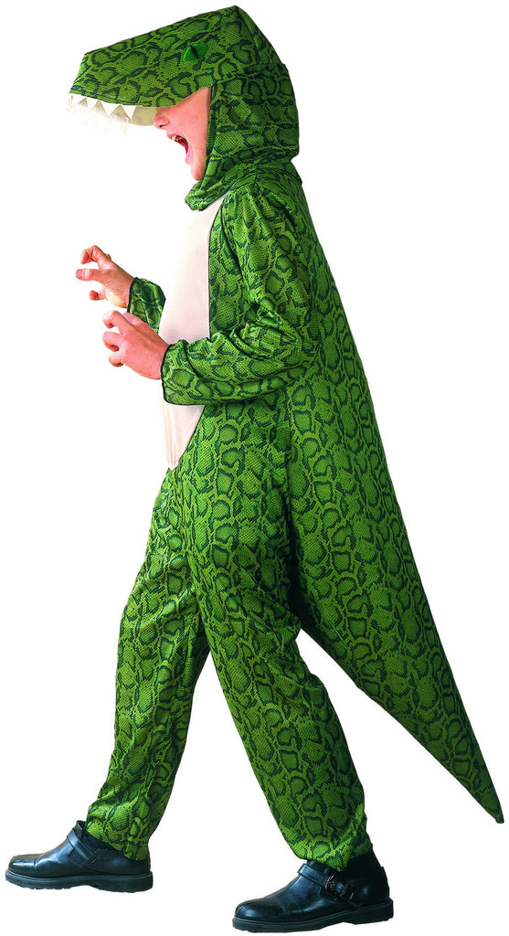 GREEN DINOSAUR COSTUME, CHILD - SIZE L
