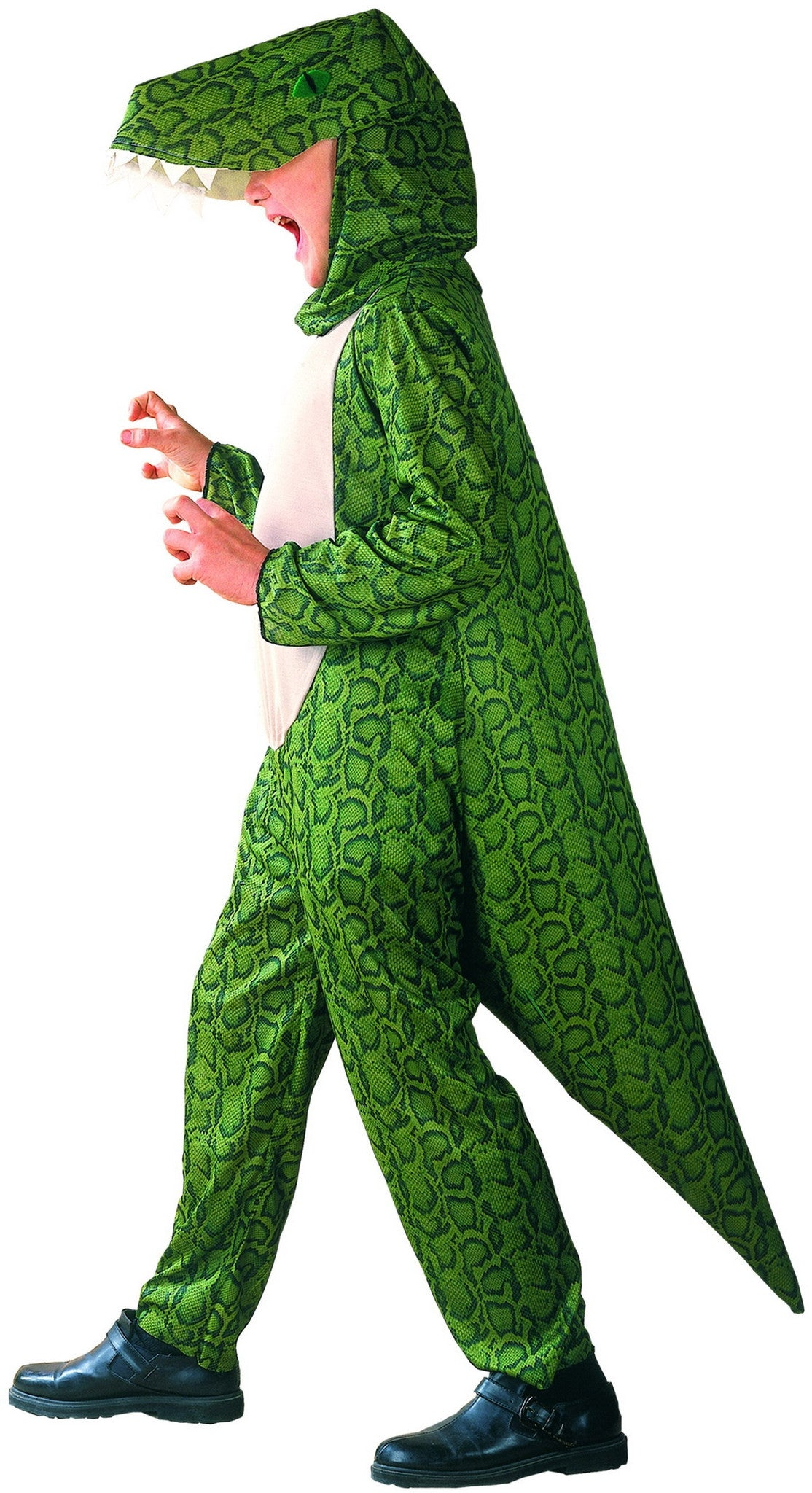 GREEN DINOSAUR COSTUME, CHILD - SIZE M
