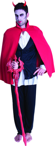 Short Devil Cape - Red