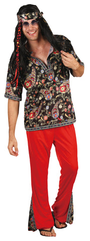 HIPPIE DUDE COSTUME, ADULT - SIZE L/XL
