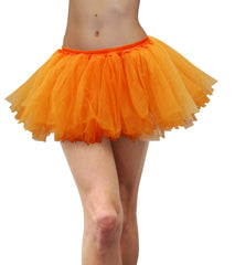 Adult 80s Tulle Tutu - Fluoro Orange