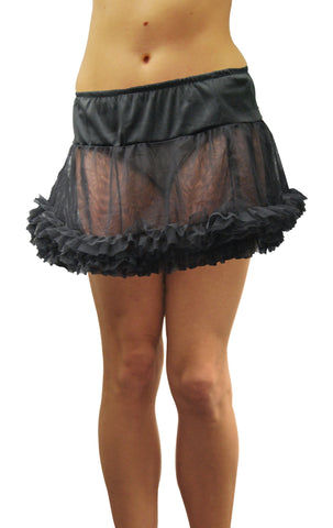 Adult Tulle Petticoat Skirt - Black