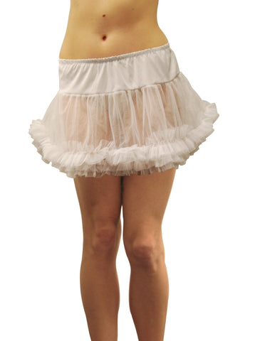 Adult Tulle Petticoat Skirt - White