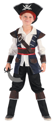 Pirate Boy Costume, Child - Size M