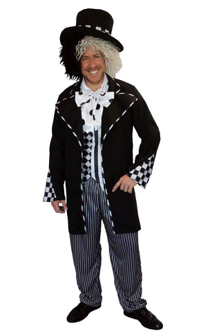 DARK MAD HATTER COSTUME, ADULT - SIZE L