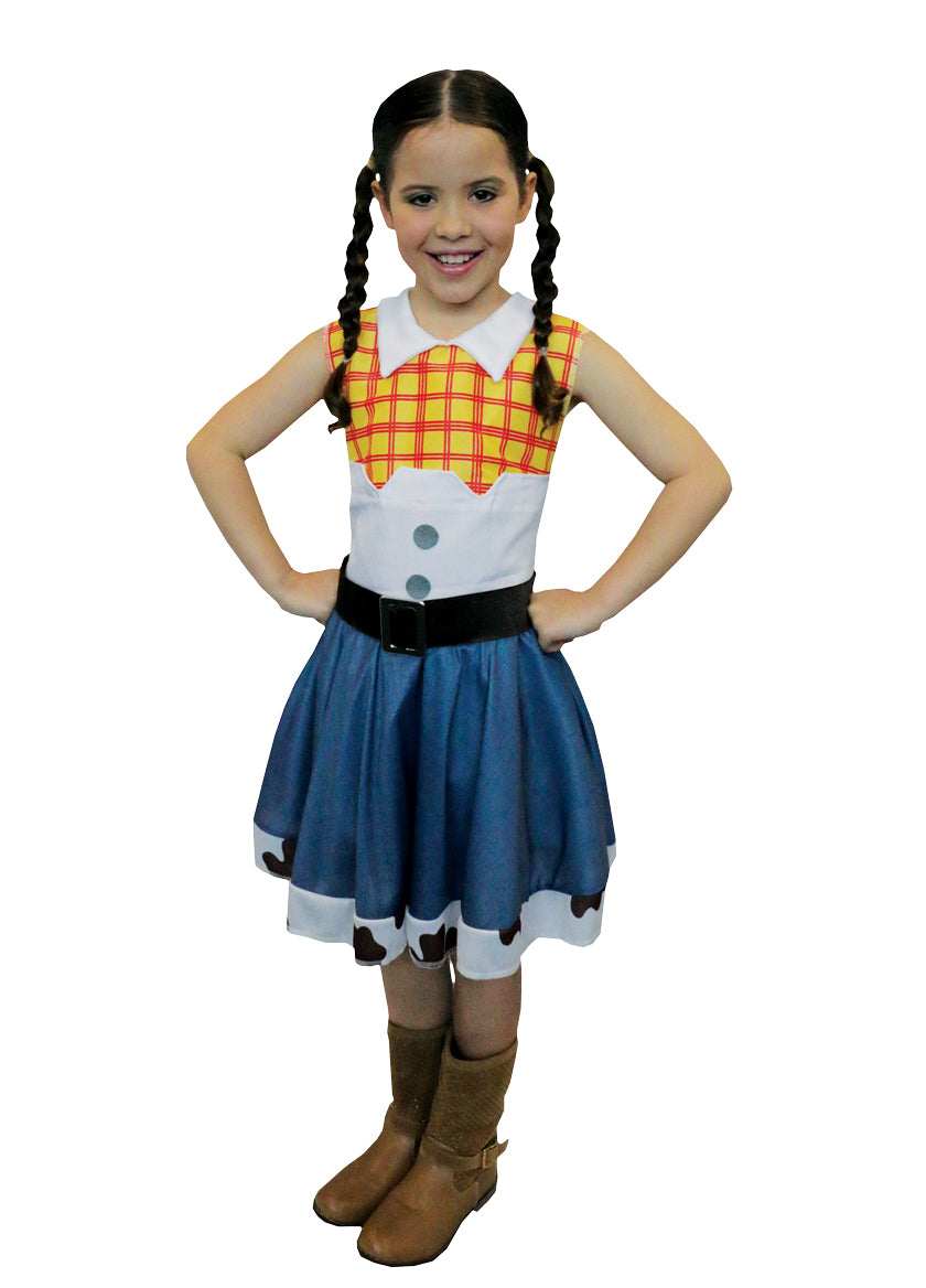 JESSIE COWGIRL COSTUME, CHILD - SIZE M