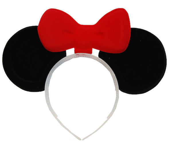 Minnie Mouse Ears with Bowtie