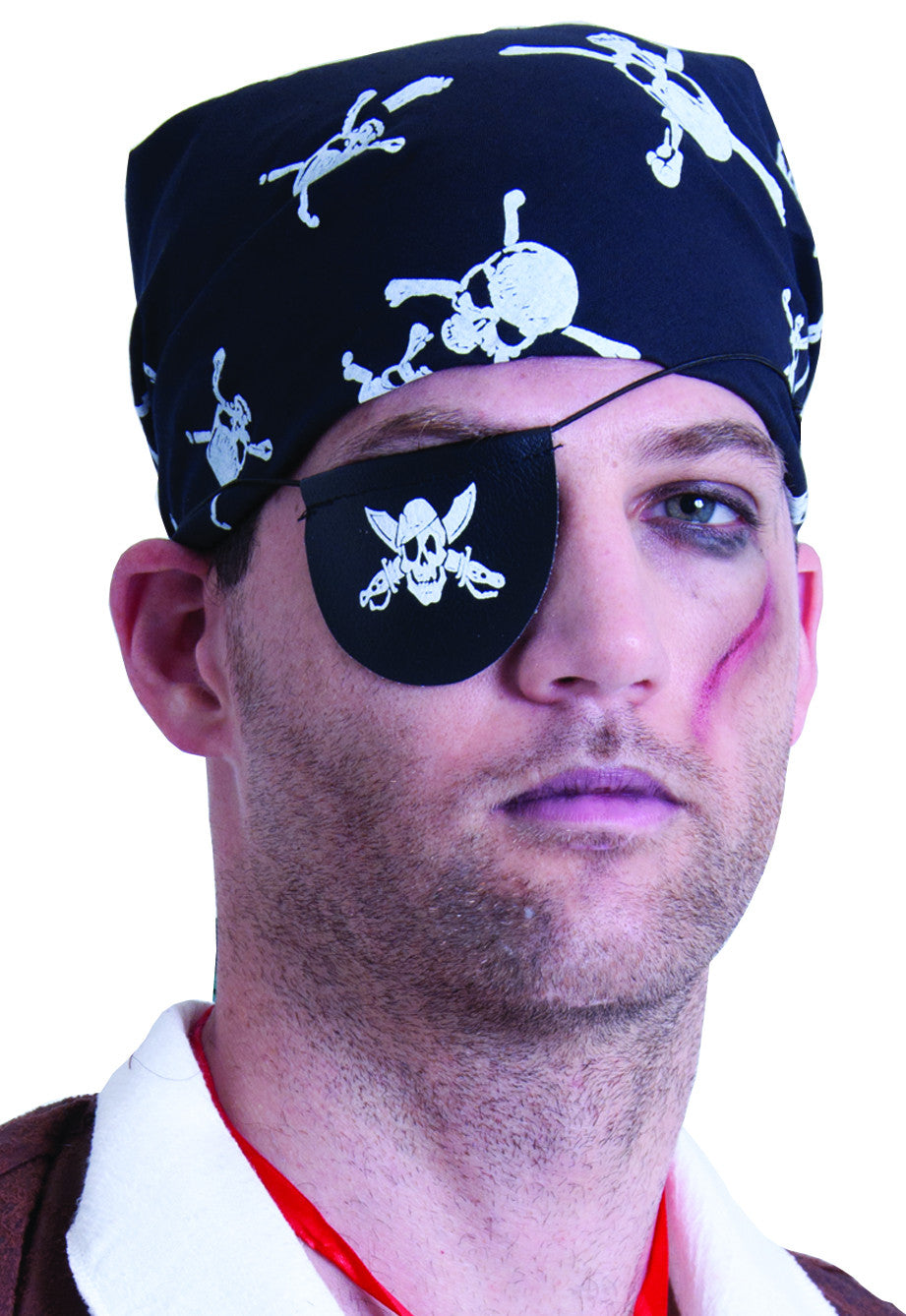 Pirate Eyepatch w/Skull & Cross Bones