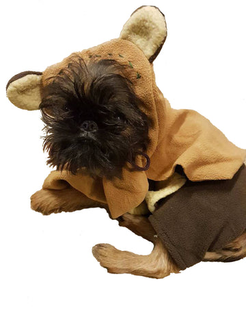 EWOK STAR WARS PET COSTUME- SIZE XL
