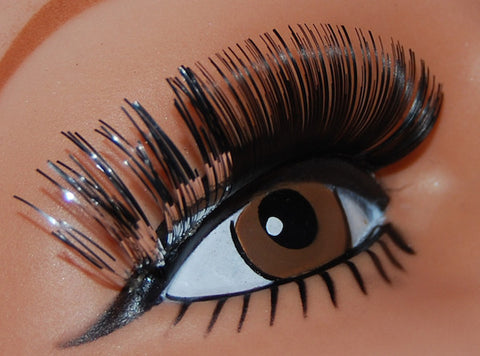 Two Tone Lashes - Black w/Silver