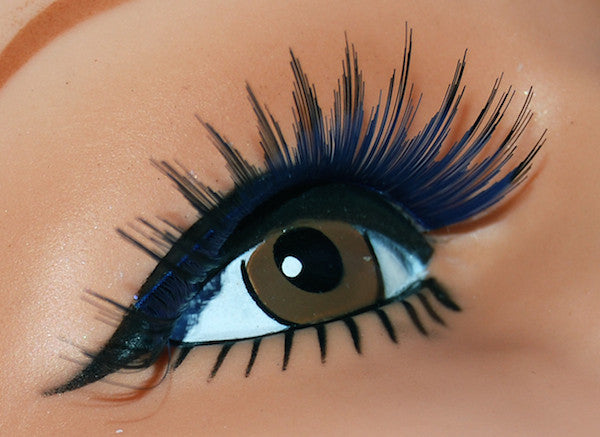 Long Sweep Lashes - Blue w/Black Tips