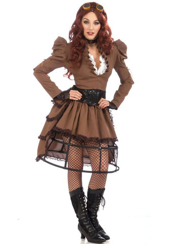 STEAMPUNK WOMENS COSTUME, ADULT - SIZE STD