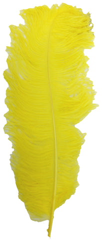 Ostrich Plumes 60cm - Yellow***