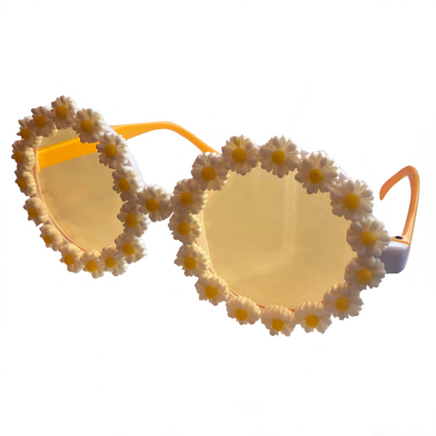 60s Hippie Flower Power Glasses