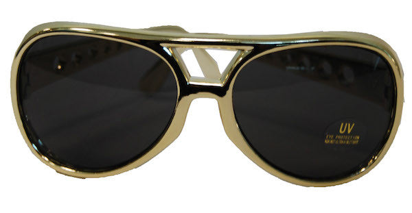 Elvis Glasses Gold Frame