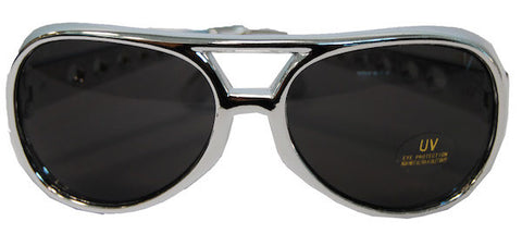 Elvis Glasses Silver Frame