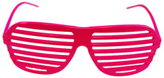 80s Slot Glasses - Hot Pink
