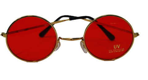 Lennon Glasses - Red Tint