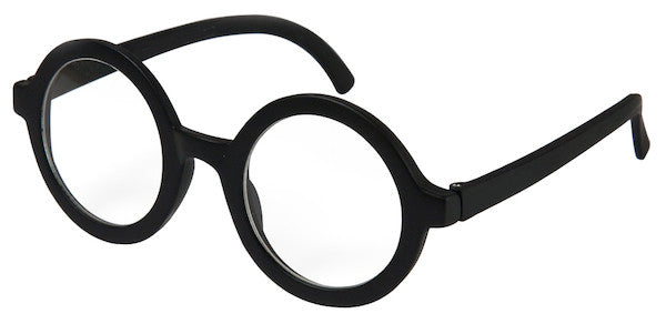 Adult Wally Glasses w/Lens - Black