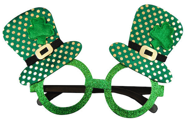 St Patricks Day Glasses - Top Hats