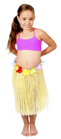 Hawaiian Skirt - Natural - Childs  40cm