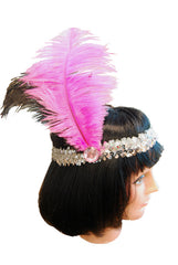 20s Headband Sequined - Pink