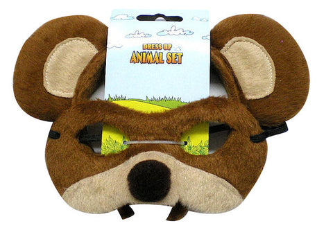 Animal Headband & Mask Set - Bear