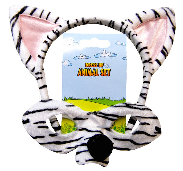 Animal Headband & Mask Set - Zebra