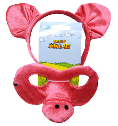 Animal Headband & Mask Set - Pig