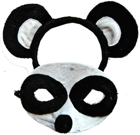 Animal Headband & Mask Set - Panda
