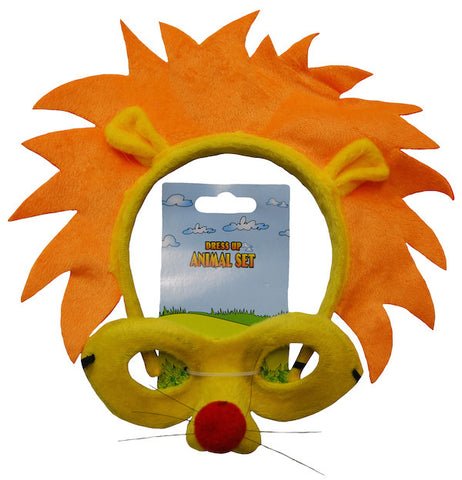 Animal Headband & Mask Set - Lion