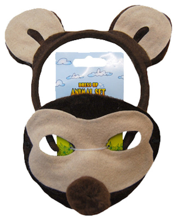 Animal Headband & Mask Set - Monkey