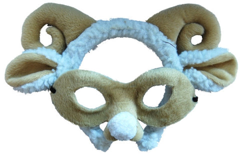 Animal Headband & Mask Set - Ram/Sheep
