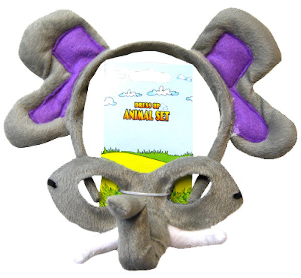 Animal Headband & Mask Set - Elephant
