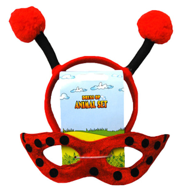 Animal Headband & Mask Set - Lady Bug