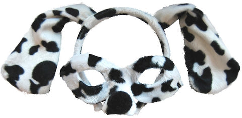 Animal Headband & Mask Set - Dalmatian