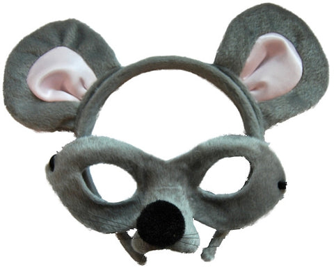Animal Headband & Mask Set - Mouse