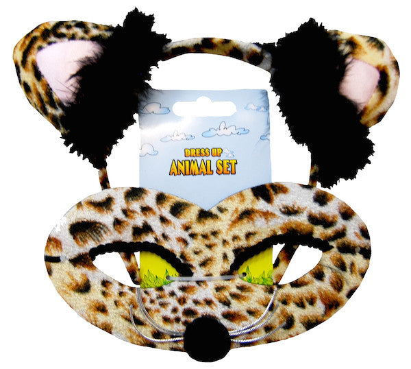 Animal Headband & Mask Set - Leopard