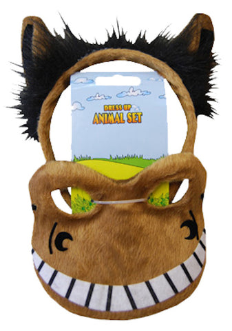 Animal Headband & Mask Set - Horse