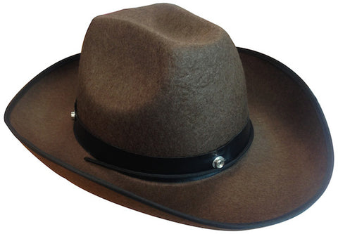 Cowboy Hat - Brown Feltex