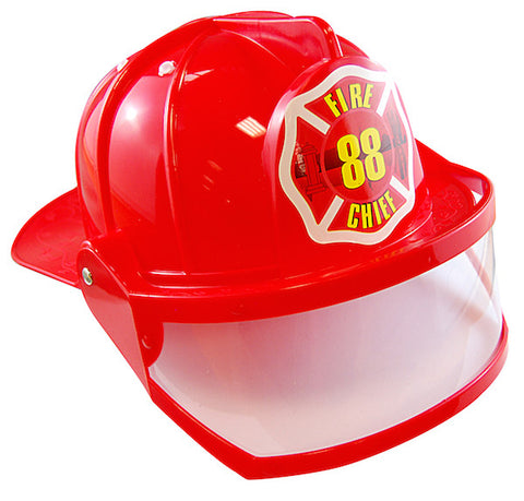 Fireman Chief Helmet w/Visor - Adult
